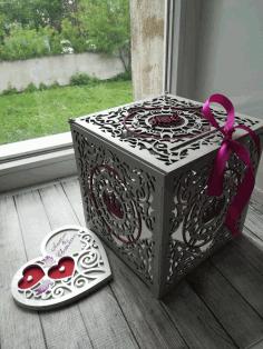 Laser Cut Layout For Wedding Box Free CDR Vectors Art
