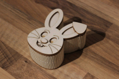 Laser Cut Layout Of Hare Box Free CDR Vectors Art