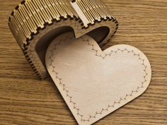 Laser Cut Layout Of Heart Box Free CDR Vectors Art