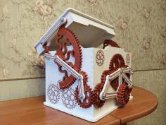 Laser Cut Layout Of Mechanical Box Free CDR Vectors Art