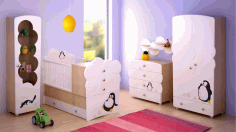 Laser Cut Baby Bed And Wardrobe Model Free CDR Vectors Art