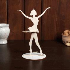 Laser Cut Dancing Girl Napkin Holder Free PDF File