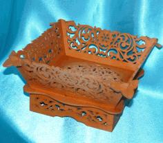 Laser Cut Wooden Candy Bowl Free PDF File