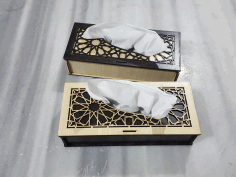 Tissue Box Laser Cut Template Free PDF File