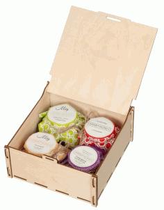 Laser Cut Sweet Life Gift Box Free PDF File