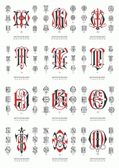 Vector Monogram Large Collection Free DXF File