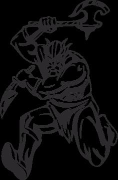 Warriors Vikings Vector 14 Free DXF File