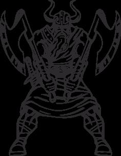 Warriors Vikings Vector 18 Free DXF File