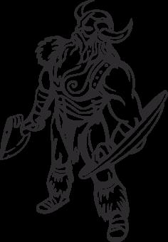 Warriors Vikings Vector 20 Free DXF File