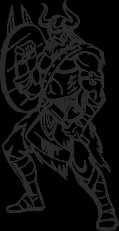 Warriors Vikings Vector 21 Free DXF File