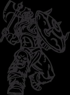 Warriors Vikings Vector 23 Free DXF File