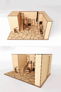 Doll House Model Free DXF File
