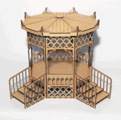 Pergola For Dolls In Japanese Style Free DXF File