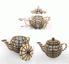 Tea House 3d Maker Layout For Laser Cutting Free DXF File