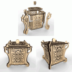 Tea House Chinese Vector Laser Cutting Layout Free DXF File