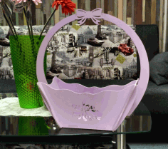 Laser Cut Basket 3 Free CDR Vectors Art