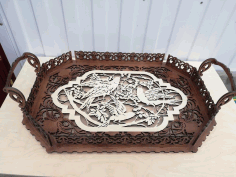 Layout For Laser Cutting Wooden Tray Free CDR Vectors Art