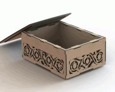 Laser Cut Box Pattern Free CDR Vectors Art