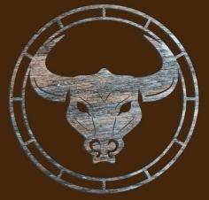 Laser Cut Bull Clock Free CDR Vectors Art