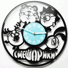 Laser Cut Cartoon Frame Clock Free CDR Vectors Art