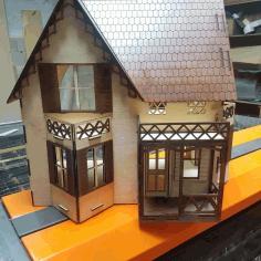 Laser Cut Doll House Template Free CDR Vectors Art