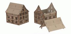 Laser Cut House Plan 3d Puzzle Free CDR Vectors Art