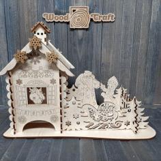 Laser Cut Tea House From Wood Craft Free CDR Vectors Art