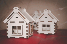 Laser Cut Toy House Template Free CDR Vectors Art