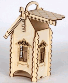 Tea House For Laser Cut Free DXF File
