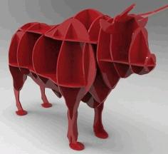 Laser Cut Bull Shelf Free CDR Vectors Art