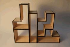 Laser Cut Shelf Tetris Free CDR Vectors Art