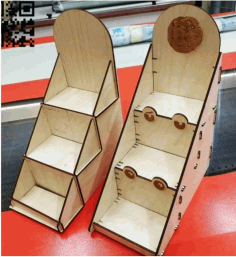 Laser Cut Wood Shelf Drawing Free DXF File