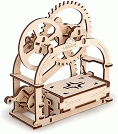 Laser Cut Business Card Holder Drawing Free DXF File