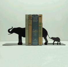 Laser Cut Elephant Family Book Holder Free CDR Vectors Art