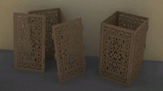 Laser Cut Layout For Cuboid Table Lamp Free CDR Vectors Art