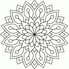 Laser Cut Mandala Circular Ornament Free CDR Vectors Art