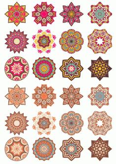 Laser Cut Mandala Doodle Round Ornament Art Free CDR Vectors Art