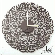 Laser Cut Wooden Clock Ornament Free CDR Vectors Art