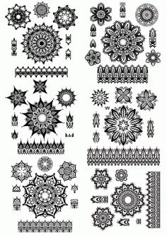 Ornaments 3 Free CDR Vectors Art