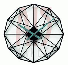 Layout Of Geometric Pattern Clock Free CDR Vectors Art