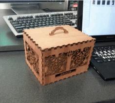Laser Cut Decorative Wooden Box Free AI File