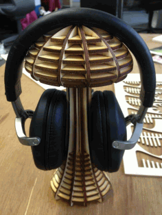 Laser Cut Mushroom Headphone Stand w150xd120xh250mm Free AI File