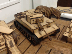 Laser Cut Tiger E Tank Free AI File