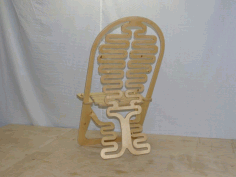 Laser Cut Abstract Design Folding Chair Model Free CDR Vectors Art