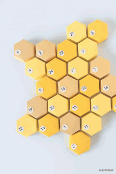 3d Honeycomb Advent Calendar From Paper With No Glue Templates Free PDF File
