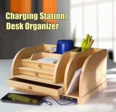 Desk Organizer Cnc Laser Cutting Free PDF File