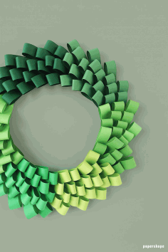 Diy ombré Wreath From Paper Loops Templates Free PDF File