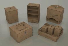 Laser Cut Wooden Casket Set Template Free PDF File