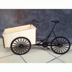 Laser Cut Bicycle Box Free DXF File