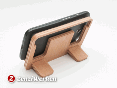 Laser Cut Smartphone Stand Free DXF File